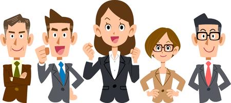 Women-centered business team  upper body