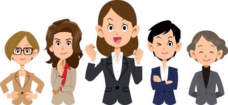 Team of various racial business _ women _ upper body
