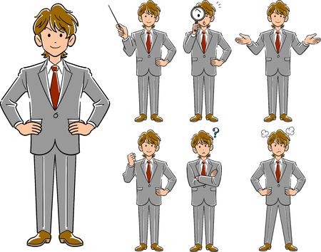 Young businessman's pose
