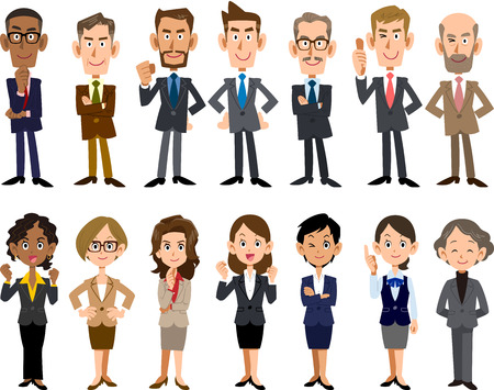 Business people of various ages and races