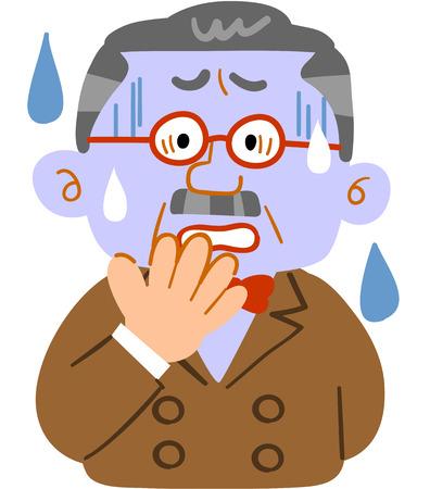 Männlicher Mann mit blassem Gesicht Vektorgrafik