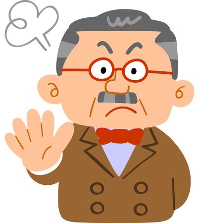 a Man is refusing something  イラスト・ベクター素材