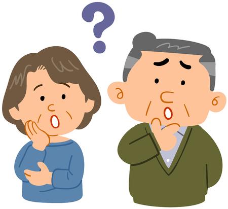 Senior couple feeling  Worried