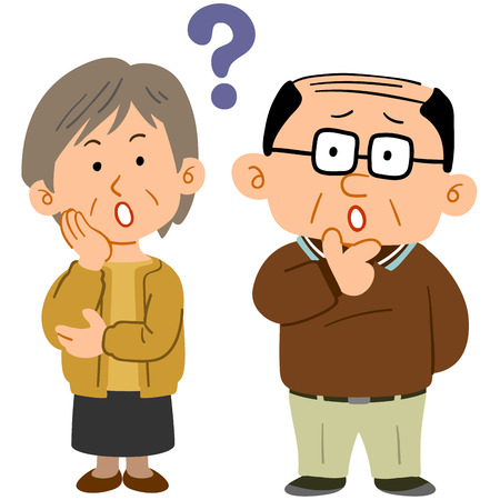Senior couple feeling worry