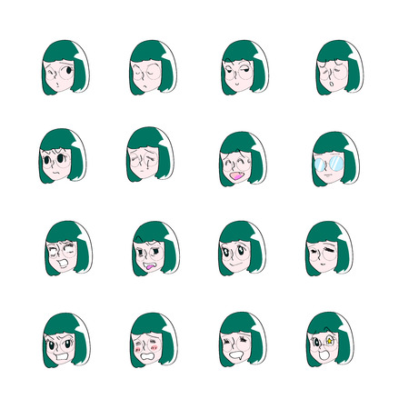 16 types of women facial expression