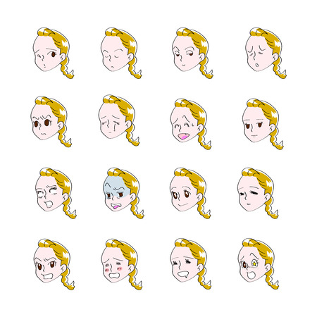 16   of female facial expressions
