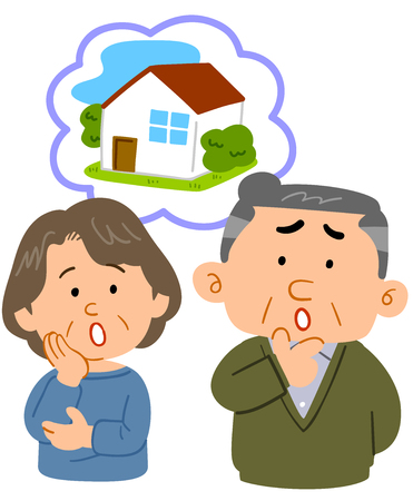Middle-aged couple consultation worrying about housing