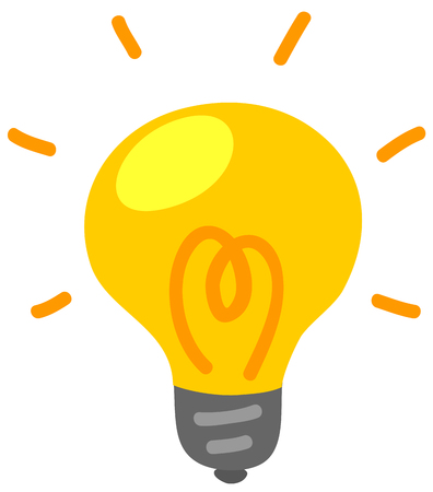 Light bulb electric flashes icon