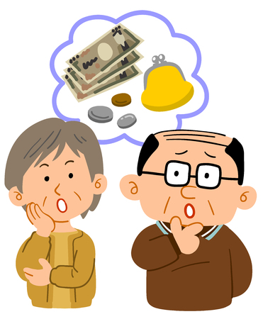 Senior couples money troubles upper body