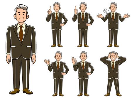 Senior businessman's pose