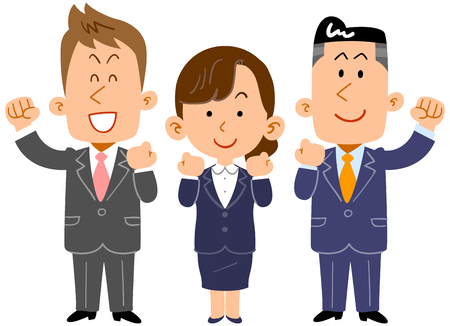Business team employee youth Illustration