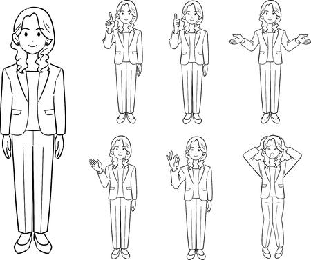 Business woman's pose Illustration