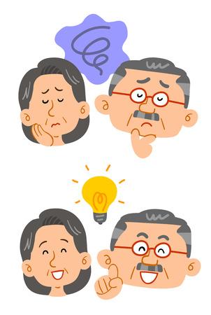 Coppia senior che ha problemi e soluzioni