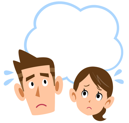 A panic couple Illustration
