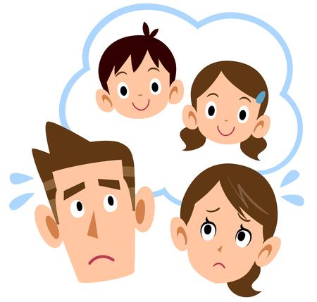 Paare, die sich Sorgen um Kinder machen