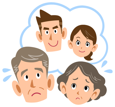 Senior couple worrying about  couple