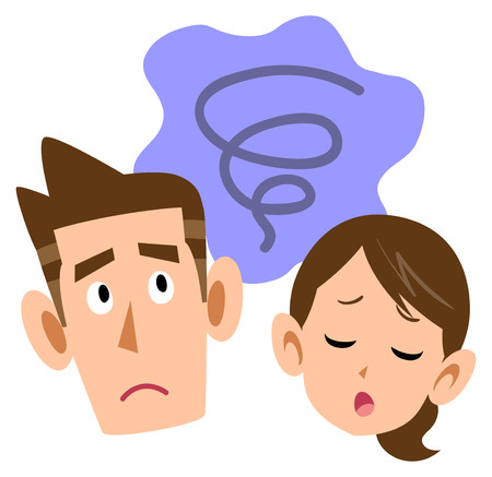 Worried couple Vector Illustration