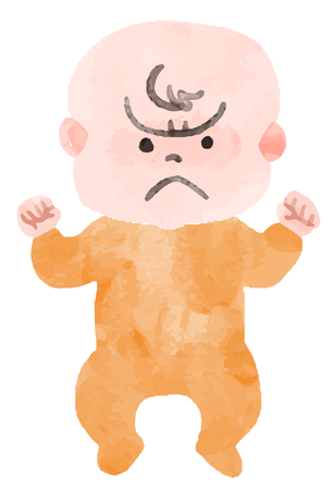 Baby in a bad mood