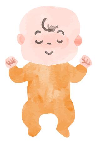Sleeping baby  イラスト・ベクター素材