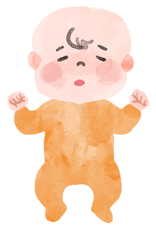 Baby with fever Ilustração
