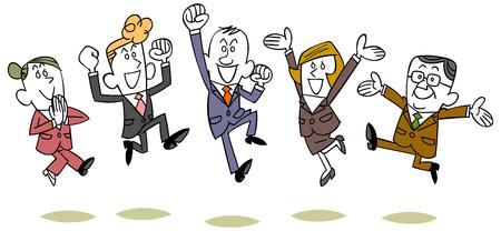 Business people jumping 일러스트