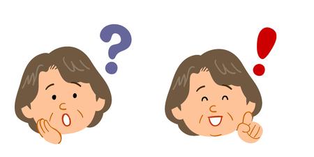 Set di domande e risposte femminili per donne di mezza età e anziane