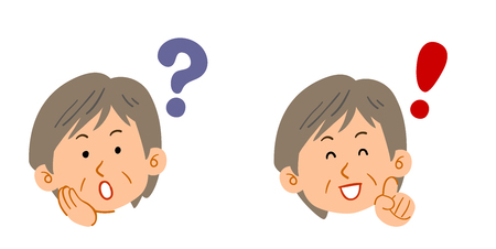 Set of women's questions and answers for middle-aged and elderly women