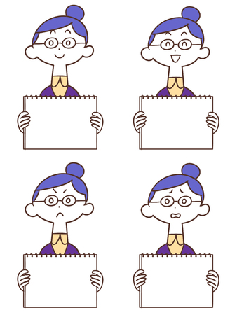 Female glasses with whiteboard