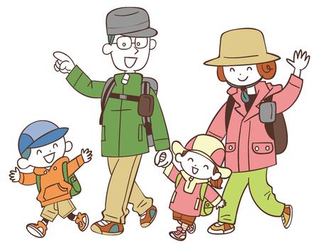 Four families who hike