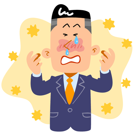 Businessmen suffering from hay fever Stockfoto - 117185567