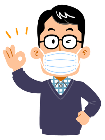 Male, father, dad with mask 写真素材 - 117185691