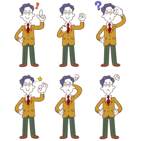 Poses and gestures of male students wearing uniform, Blazer whole body