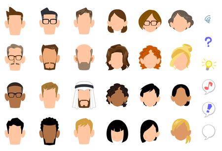Icono de cara de personas