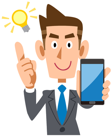 Business man with a smartphone