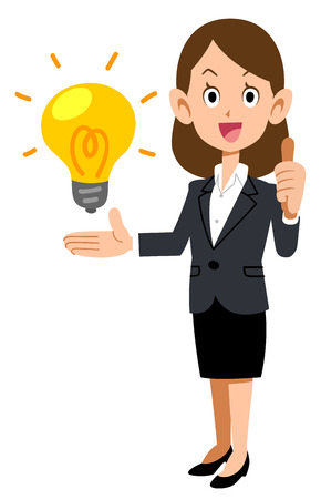 Business Woman Evaluating Ideas