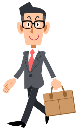 Businessman with glasses to go to work Imagens - 119208053