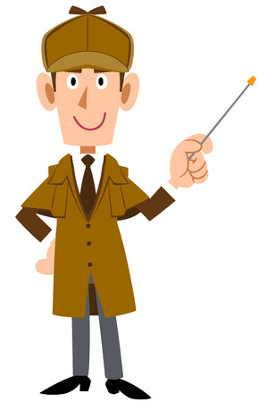 A Detective man with pointer