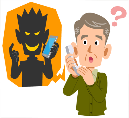 Fraude téléphonique et hommes âgés susceptibles d'être trompés