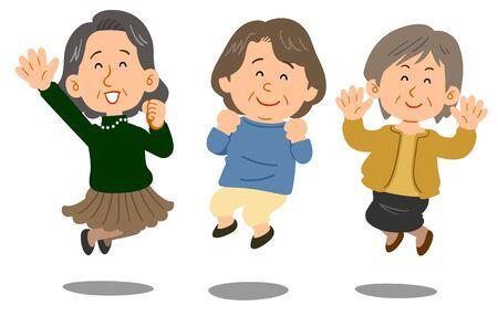Three senior women to jump