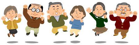 Senior men and women to jump