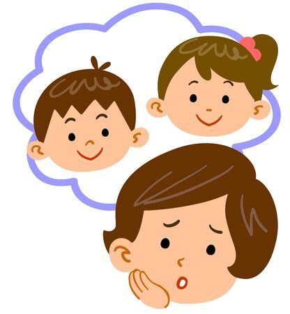 Mother worried about children