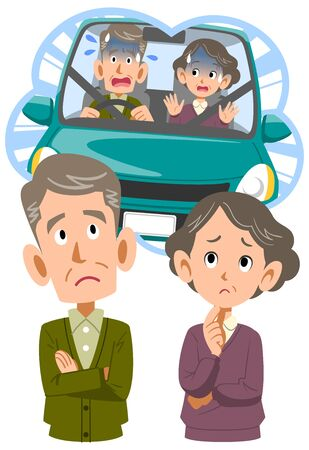 Senior couple worried about driving a car
