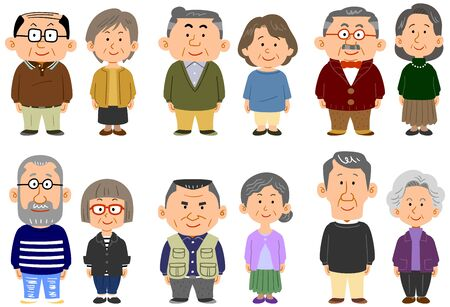 6 different types of elderly couples