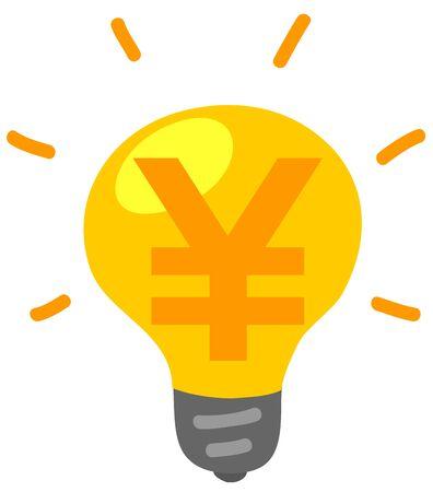 Image illustration of electricity bill Çizim