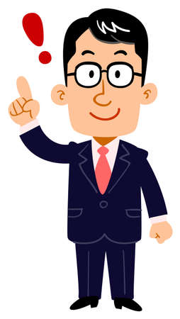 A serious businessman with glasses comes up with _ whole body