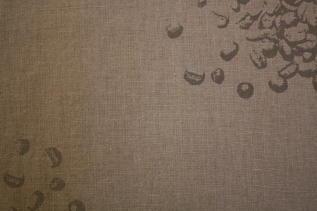 Cotton canvas with coffee beans prints Banque d'images