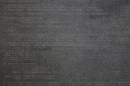 Deep gray textured background with code elements