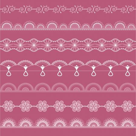 Vector fine openwork laces kit Stock Vector - 24623701