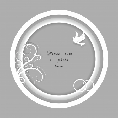 Vector white wedding frame