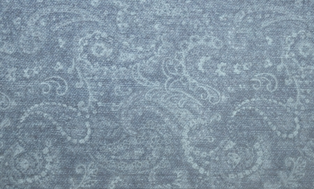 Denim textile with paisley prints
